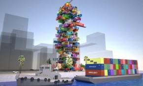 projeto do hotel feito com conteiner